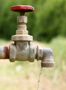 tap dripping in Perth garden