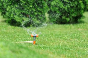 watering lawn with sprinkler system Perth