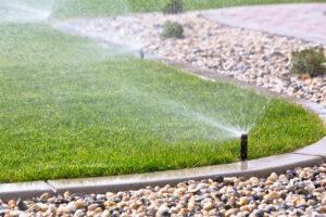 sprinkler watering system misting grass Perth