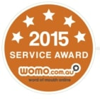 Word of mouth online service award 2015