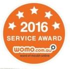 2016 Womo service award Australia